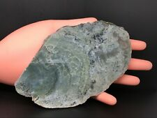 MOSS AGATE GEODE  SLICE NATURAL STONE COLLECTABLE SPECIMEN A-441