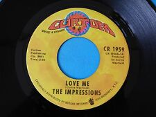 "NORTHERN SOUL WIGAN MECCA R&B 7"" RECORD LOVE ME LEROY HUTSON AND THE IMPRESSIONS"