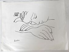 Fast SALE!!  ORIGINAL PEN AND INK DRAWING Hand SIGNED PICASSO Authentic