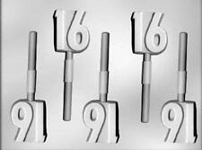 Number 16 Chocolate Lollipop Candy Mold from CK 12121 NEW
