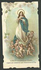 Estampa antigua Virgen Inmaculada Andachtsbild Santino Holy Card Santini