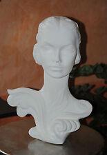 Büste Frau Figur Statue Dame Edel Moderne Deko Weiß Weiss