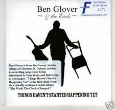(B879) Ben Glover & The Earls, Things Haven't ..- DJ CD