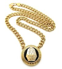 """NEW TYGA KING TUT PENDANT WITH 30"""" 10mm LINK CHAIN.."""