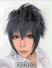 Final Fantasy XV Noctis Lucis Caelum Short Blue Gray Black mix Cosplay Wig