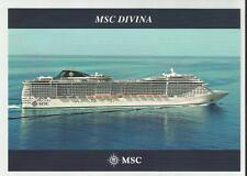 MSC DIVINA... cruise ship..  MSC Cruises  post card ... At Sea  profile