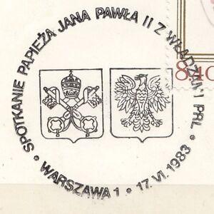 POLAND 1983.06.17 POSTMARK  II Visit, Pope John Paul II