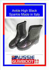 Smart Italian Ladies Ankle Gumboots Size 5 6 7 8 9 10 Wellies Gum BOOTS Womens 9