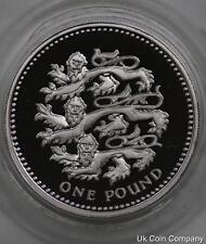 1997 UNITED KINGDOM THREE LIONS SILVER PROOF PIEDFORT £1 ONE POUND COIN & COA