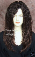 Soft Touch Long Wavy Wig in Dark Brown / 100% Japanese Fibre Brilliant Quality