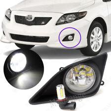 2X Front Bumper Fog Lights w/ Switch LED Bulbs For Toyota Corolla 2008 2009 2010