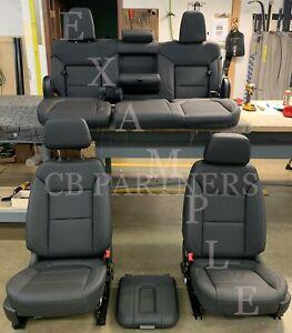 2019 - 2021 NEW TAKE OFF OEM CHEVROLET SILVERADO 1500 CREW CAB LEATHER SEAT SET