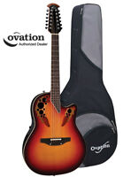 Ovation Standard Elite 2758AX 12-String Acoustic-Electric Guitar - NE Burst