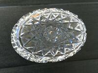 Kristallglas Schale antik Jugendstil geschliffen England Kaviar Butter Konfitüre