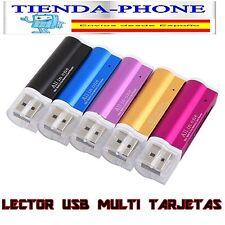 Lector Tarjeta USB 2.0 Stick SD MMC SDHC T-F Multilector Card Reader Adaptador