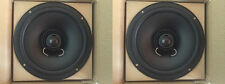 """NEW (2) 8"""" Full Range Coaxial Speakers.2way 4 ohm Car.Marine.in-ceiling.PAIR.80w"""