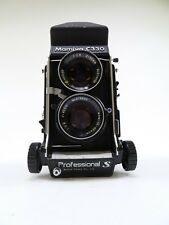 Mamiya C330S Twin Lens Reflex Camera Body with 80MM F2.8 Blue Dot Lens & Prism