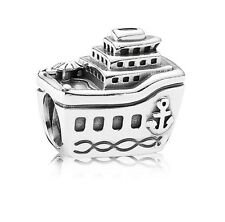 Authentic Sterling Silver Pandora Travel All Aboard Cruise Ship Charm 791043