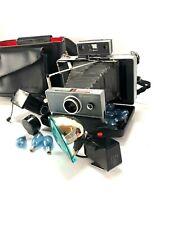 Vintage Polaroid 100  Automatic Folding Instant Land Camera & Case