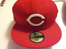 Mens-Hat-59Fifty-7-5/8-Cincinnati-Reds-Red-Baseball-Embroidered-100% Polyester
