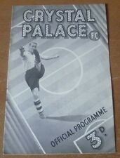 Crystal Palace v Swindon Town, 17/01/1948 - Division Three (South) Programme.