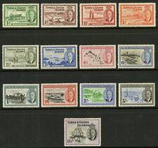 Turks & Caicos Islands  1950  Scott # 105-117   Mint Never Hinged Set