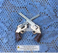 """Western Equestrian Tack Crossed Colt Schofield Revolver Pistols 1 1/2"""" Concho"""