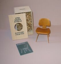 VITRA DESIGN Museum Miniatures ~ DCW Tan Chair by Charles & Ray Eames ~ MIB