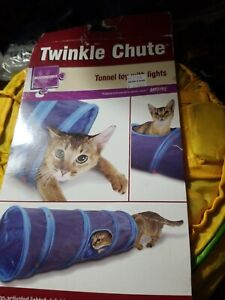 Worldwise Petlinks Twinkle Chute Tunnel Cat Toy With Lights Independent Cat Toy