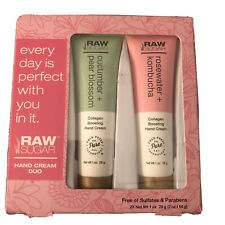 Raw Sugar Pear Cucumber & Rose Hand Cream Gift Set, Lotion Brand New.