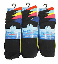 10 pairs of Kids Boys Cotton Rich Chain Store Design Coloured Heel & Toe Socks