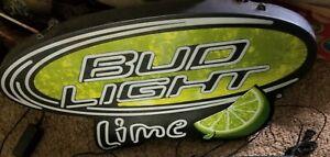 2009 Bud Light Lime Opti-Neon Led Bar Sign Model #1049398 Dimmable Man Cave
