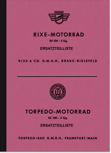 Rixe Torpedo RS 100/3 Ersatzteilliste Ersatzteilkatalog RS100 Parts Catalogue