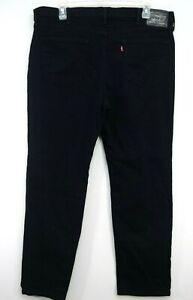 Levis Mens 541 0034 Black Work Stretch Athletic Fit Denim Jeans Size 42 x 32