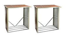 2x Brennholzregal Holzregal Brennholz Kaminholzregal Holzlager aus Metall 919618