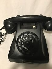 Vintage Ericsson PTT Rotary Dial Telephone w/Bakelite Housing - Made in Holland