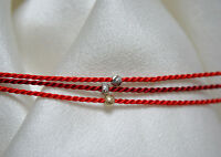 1 Wunscharmband Rotes armband Siede Red wish bracelet silk