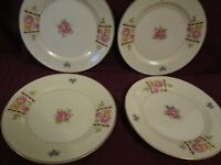 4 Homer Laughlin Georgian Eggshell Salad Desert Plate Art Deco Design 6 1/4""