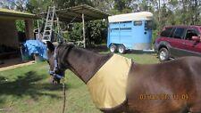 NEW HORSES SATIN UNDER RUG BIB Gold Medium (COB size)