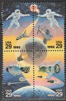Scott# 2631-34 - 1992 Commemoratives - 29 cents Space Accomplishments Block