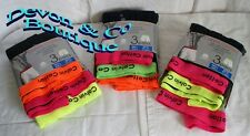 Men's Boxers/Shorts 50% Cotton Neon tops Size Large 3 pairs