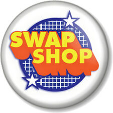 "SWAP SHOP 1"" Pin Button Badge BBC Retro Childrens Saturday Morning Kids TV 70s 2"