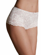M & S - 2 PAIRS Cream/Beige Patterned Lace Trim Control Briefs/Knickers - BNWOT