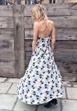 FREE PEOPLE Mulberry Maxi Dress in Ivory Blue, Floral Size XS $128 NWT OB413273
