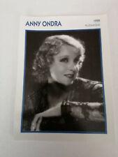 Anny Ondra - Fiche cinéma - Portraits de stars 13 cm x 18 cm