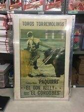 Vintage TOROS TORREMOLINOS Bullfight Framed poster original , EL DON KELLY