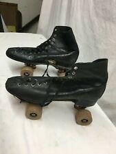 Vintage Mens 9 Sears Expert Leather Roller Skate Robesto Wheels