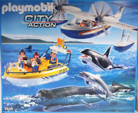 Playmobil 5920 Whale Watching Walbeobachtung Meeres-Expedition Flugzeug Boot NEU