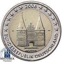 Deutschland 2 Euro Holstentor Lübeck Gedenkmünze 2006 Stempelglanz Mzz G