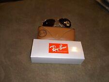 Ray Ban Aviator Sunglasses G15 Black Lens Gold Frames 100%UV